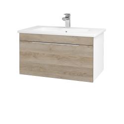 Dřevojas - Koupelnová skříň ASTON SZZ 80 - N01 Bílá lesk / Úchytka T05 / D17 Colorado (199340F)