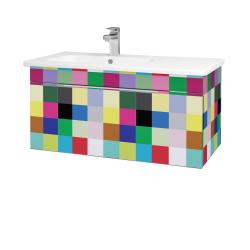 Dřevojas - Koupelnová skříň ASTON SZZ 90 - IND Individual / Úchytka T05 / IND Individual (199586F)