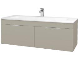 Dřevojas - Koupelnová skříň ASTON SZZ2 120 - M05 Béžová mat / Úchytka T05 / M05 Béžová mat (200251F)