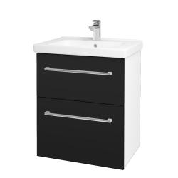 Dřevojas - Koupelnová skříň BIG INN SZZ2 65 - N01 Bílá lesk / Úchytka T03 / N08 Cosmo (200497C)
