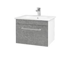 Dřevojas - Koupelnová skříň ASTON SZZ 60 - N01 Bílá lesk / Úchytka T03 / D20 Galaxy (276645C)