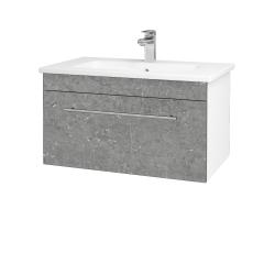 Dřevojas - Koupelnová skříň ASTON SZZ 80 - N01 Bílá lesk / Úchytka T02 / D20 Galaxy (276683B)