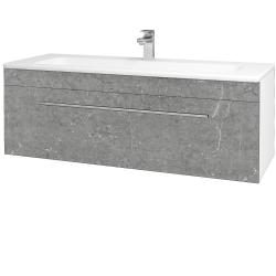 Dřevojas - Koupelnová skříň ASTON SZZ 120 - N01 Bílá lesk / Úchytka T02 / D20 Galaxy (276805B)