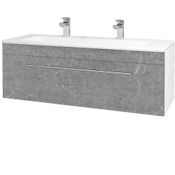 Dřevojas - Koupelnová skříň ASTON SZZ 120 - N01 Bílá lesk / Úchytka T02 / D20 Galaxy (276805BU)