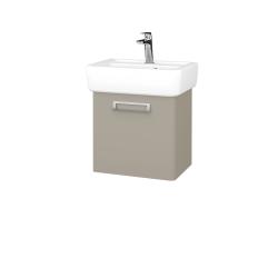 Dřevojas - Koupelnová skříň DOOR SZD 45 - L04 Béžová vysoký lesk / L04 Béžová vysoký lesk / Levé (151683)