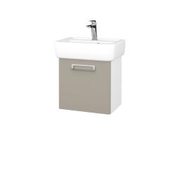 Dřevojas - Koupelnová skříň DOOR SZD 45 - N01 Bílá lesk / L04 Béžová vysoký lesk / Pravé (149918P)