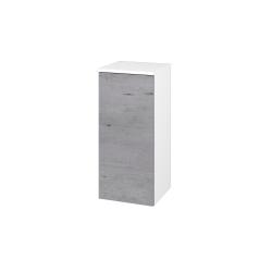 Dřevojas - Skříň spodní DOS SND 35 - N01 Bílá lesk / Bez úchytky T31 / D01 Beton / Pravé (62715DP)