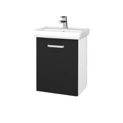 Dřevojas - Koupelnová skříň DOOR SZD 50 - N01 Bílá lesk / Úchytka T01 / L03 Antracit vysoký lesk / Pravé (122805AP)
