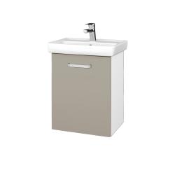 Dřevojas - Koupelnová skříň DOOR SZD 50 - N01 Bílá lesk / Úchytka T01 / L04 Béžová vysoký lesk / Pravé (122812AP)