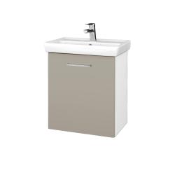 Dřevojas - Koupelnová skříň DOOR SZD 55 - N01 Bílá lesk / Úchytka T04 / L04 Béžová vysoký lesk / Pravé (122850EP)