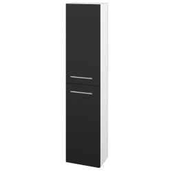 Dřevojas - Skříň vysoká DOOR SV1D2 35 - N01 Bílá lesk / Úchytka T02 / L03 Antracit vysoký lesk / Pravé (122928BP)