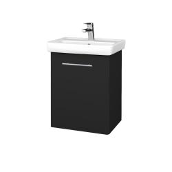 Dřevojas - Koupelnová skříň DOOR SZD 50 - L03 Antracit vysoký lesk / Úchytka T02 / L03 Antracit vysoký lesk / Pravé (151690BP)