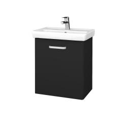 Dřevojas - Koupelnová skříň DOOR SZD 55 - L03 Antracit vysoký lesk / Úchytka T01 / L03 Antracit vysoký lesk / Pravé (151713AP)