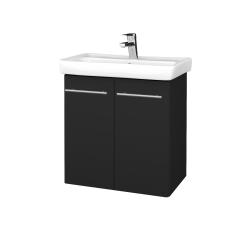 Dřevojas - Koupelnová skříň DOOR SZD2 60 - L03 Antracit vysoký lesk / Úchytka T02 / L03 Antracit vysoký lesk (151744B)