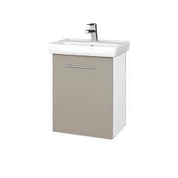 Dřevojas - Koupelnová skříň DOOR SZD 50 - N01 Bílá lesk / Úchytka T02 / M05 Béžová mat / Pravé (205119BP)