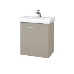 Dřevojas - Koupelnová skříň DOOR SZD 55 - M05 Béžová mat / Úchytka T04 / M05 Béžová mat / Pravé (205133EP)