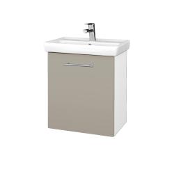 Dřevojas - Koupelnová skříň DOOR SZD 55 - N01 Bílá lesk / Úchytka T02 / M05 Béžová mat / Pravé (205157BP)