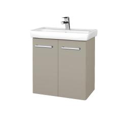 Dřevojas - Koupelnová skříň DOOR SZD2 60 - M05 Béžová mat / Úchytka T03 / M05 Béžová mat (205171C)