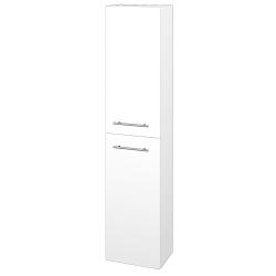 Dřevojas - Skříň vysoká DOOR SV1D2 35 - N01 Bílá lesk / Úchytka T02 / M01 Bílá mat / Levé (205225B)
