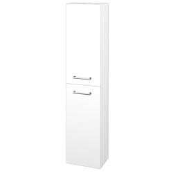 Dřevojas - Skříň vysoká DOOR SV1D2 35 - N01 Bílá lesk / Úchytka T03 / M01 Bílá mat / Pravé (205225CP)