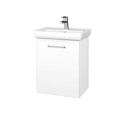 Dřevojas - Koupelnová skříň DOOR SZD 50 - N01 Bílá lesk / Úchytka T04 / L01 Bílá vysoký lesk / Pravé (21927EP)