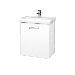 Dřevojas - Koupelnová skříň DOOR SZD 55 - N01 Bílá lesk / Úchytka T01 / L01 Bílá vysoký lesk / Levé (21941A)