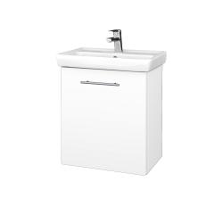 Dřevojas - Koupelnová skříň DOOR SZD 55 - N01 Bílá lesk / Úchytka T02 / L01 Bílá vysoký lesk / Levé (21941B)