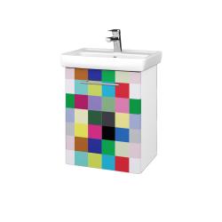 Dřevojas - Koupelnová skříň DOOR SZD 50 - N01 Bílá lesk / Úchytka T02 / IND Individual / Levé (23976B)