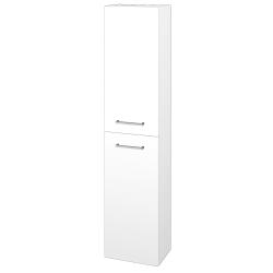 Dřevojas - Skříň vysoká DOOR SV1D2 35 - N01 Bílá lesk / Úchytka T04 / L01 Bílá vysoký lesk / Pravé (24461EP)