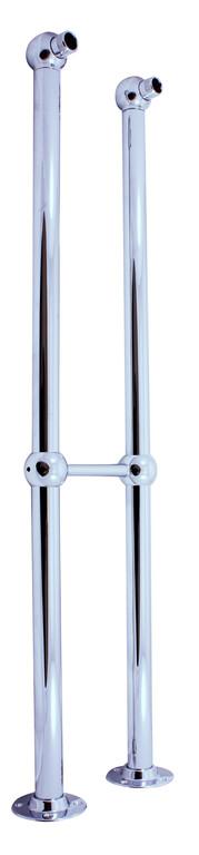 SLEZAK-RAV Nohy k volně stojící baterii , Barva: chrom, Rozměr: 150 mm SD0100