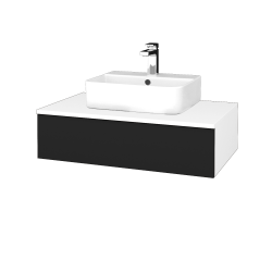 Dřevojas - Koupelnová skříňka MODULE SZZ 80 - N01 Bílá lesk / N08 Cosmo (297336)