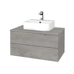 Dřevojas - Koupelnová skříňka MODULE SZZ2 80 - D01 Beton / D01 Beton (297879)