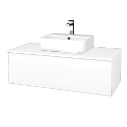 Dřevojas - Koupelnová skříňka MODULE SZZ1 100 - N01 Bílá lesk / M01 Bílá mat (299132)