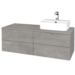 Dřevojas - Koupelnová skříňka MODULE SZZ4 120 - D01 Beton / D01 Beton / Levé (301637)