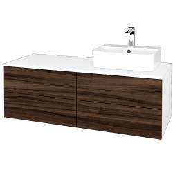 Dřevojas - Koupelnová skříňka MODULE SZZ4 120 - N01 Bílá lesk / D06 Ořech / Levé (301880)