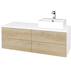 Dřevojas - Koupelnová skříňka MODULE SZZ4 120 - N01 Bílá lesk / D15 Nebraska / Levé (301927)