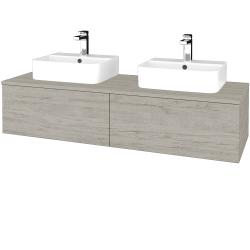 Dřevojas - Koupelnová skříňka MODULE SZZ12 140 - D05 Oregon / D05 Oregon (303082)