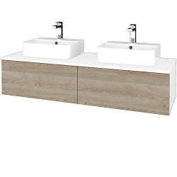 Dřevojas - Koupelnová skříňka MODULE SZZ12 140 - N01 Bílá lesk / D17 Colorado (303358)