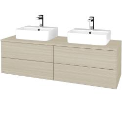 Dřevojas - Koupelnová skříňka MODULE SZZ4 140 - D04 Dub / D04 Dub (303532)