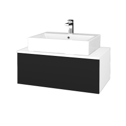 Dřevojas - Koupelnová skříňka MODULE SZZ1 80 - N01 Bílá lesk / N08 Cosmo (311896)