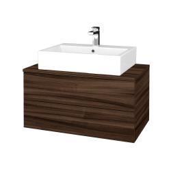 Dřevojas - Koupelnová skříňka MODULE SZZ2 80 - D06 Ořech / D06 Ořech (312015)