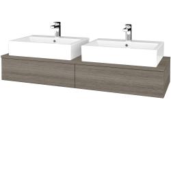 Dřevojas - Koupelnová skříňka MODULE SZZ2 140 - D03 Cafe / D03 Cafe (316686)