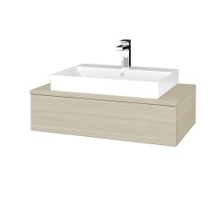 Dřevojas - Koupelnová skříňka MODULE SZZ 80 - D04 Dub / D04 Dub (332716)