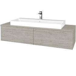 Dřevojas - Koupelnová skříňka MODULE SZZ12 140 - D05 Oregon / D05 Oregon (337636)
