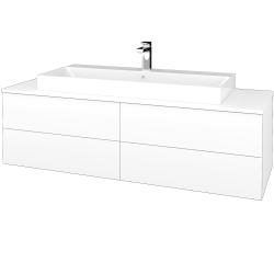 Dřevojas - Koupelnová skříňka MODULE SZZ4 140 - N01 Bílá lesk / M01 Bílá mat (338428)