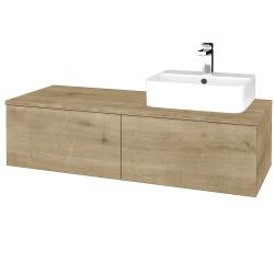 Dřevojas - Koupelnová skříňka MODULE SZZ12 120 - D09 Arlington / D09 Arlington / Pravé (301231P)