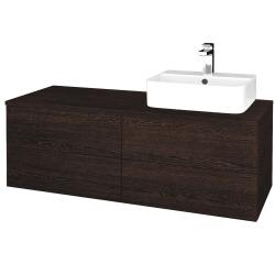 Dřevojas - Koupelnová skříňka MODULE SZZ4 120 - D08 Wenge / D08 Wenge / Pravé (302160P)