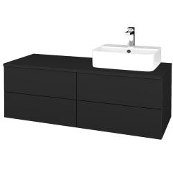 Dřevojas - Koupelnová skříňka MODULE SZZ4 120 - L03 Antracit vysoký lesk / L03 Antracit vysoký lesk / Pravé (302252P)