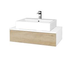 Dřevojas - Koupelnová skříňka MODULE SZZ 80 - N01 Bílá lesk / D15 Nebraska (311315)