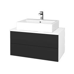Dřevojas - Koupelnová skříňka MODULE SZZ2 80 - N01 Bílá lesk / N03 Graphite (312336)